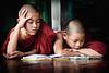 Chauk Htet Gyi monastery with monks studying.  These monks were actually in detention!  :-)