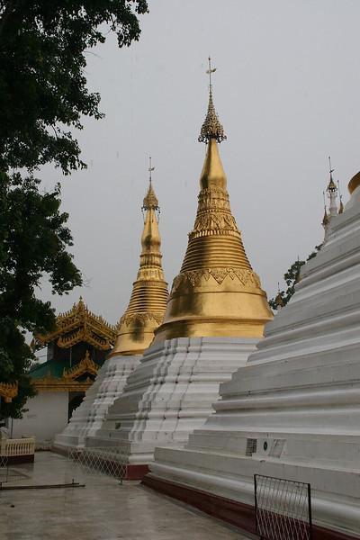 At the Shwedagon Pagoda, Yangon on a rainy day
