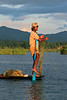 A guy foot paddling (hint look @ so called ore)