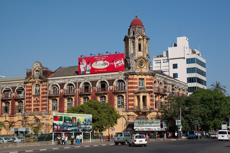 colonial building facing Maha Bandoola Garden, Yangon (stock exchange?)