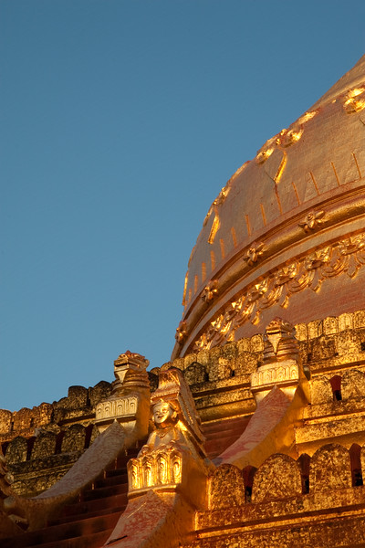 detail of Shwezigon Paya, Bagan