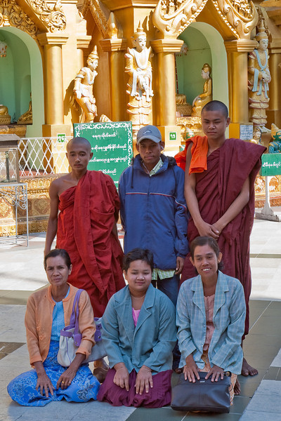visitors at Shwedagon Paya area, Yangon