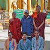 visitors at Shwedagon Paya area, Yangon