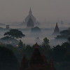 Bagan shortly before sunrise