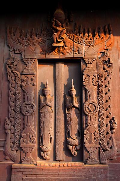 Door of Shwe In Bin Kyaung, Manadalay