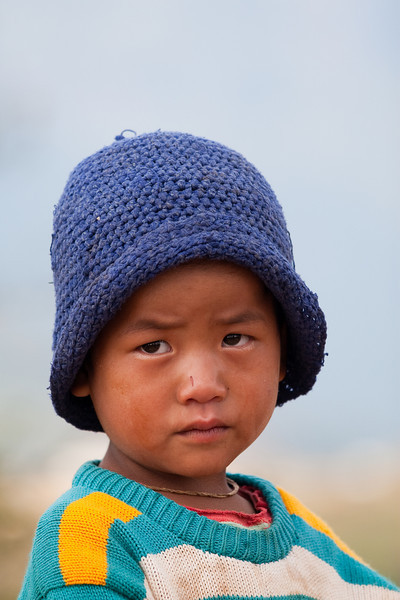 Kid at small village near Kalaw