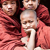 Monks in monestary near Kalaw