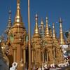 surrounding shrines at Shwedagon Paya area, Yangon