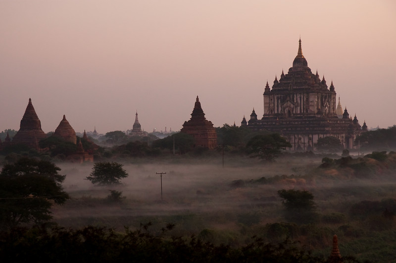 Bagan shortly after sunrise