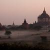 Bagan shortly after sunrise