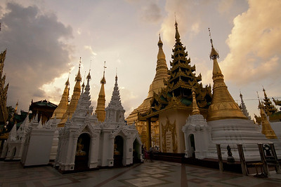 Shwedagon pagoda, Yangon (Rangoon). This is one of the most sacred Buddhist sites in Burma.