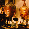 Stolen Burmese Buddhas for sale in Bangkok.