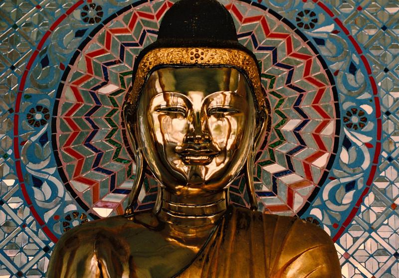 Buddha statue, Shwedagon Pagoda, Rangoon.
