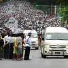 President Obama's motorcade in Rangoon, November 19, 2012 (Reuters).