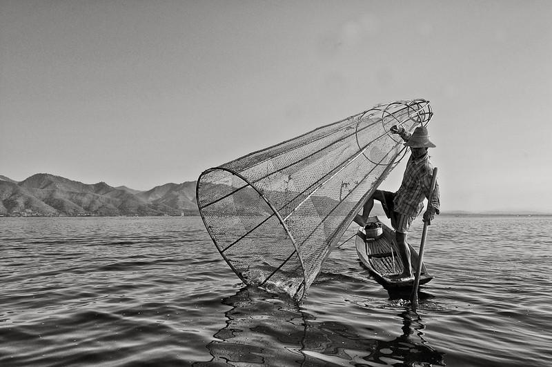 Fisherman lake Inlay, Myanmar