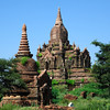 Stupas east of New Bagan