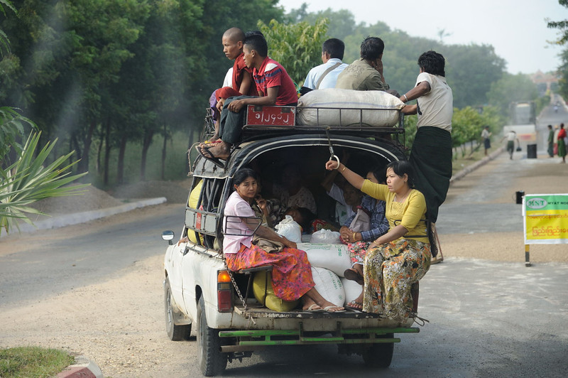 Just north of Old Bagan, Burma.