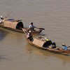 Boats on the Irrawaddy, Bagan, Burma.