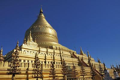 Shwezigon Pagoda, Bagan, Burma.