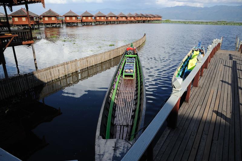 Hu PIn Hotel on north west coast of Lake Inle, Burma.