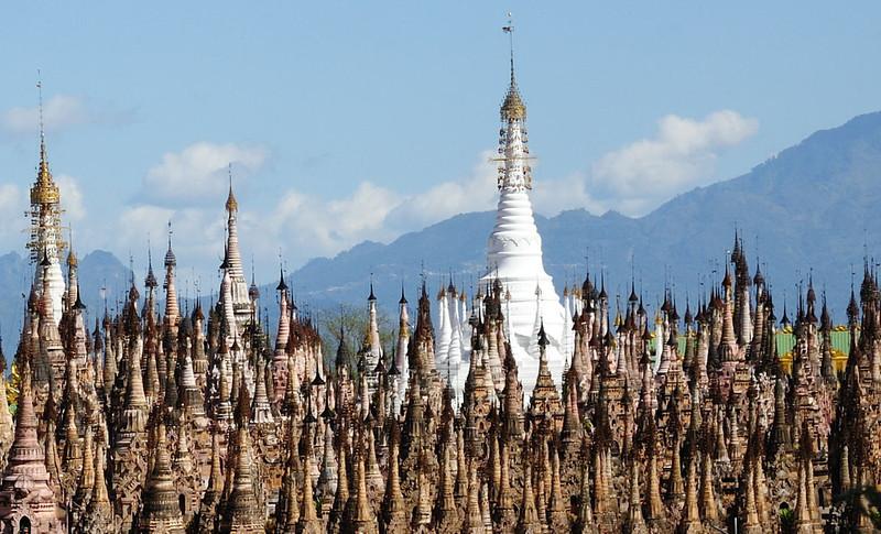 Kakku Pagoda, Shan State, East of Lake Inle, Burma.