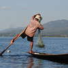 Leg-rower fisherman on Lake Inle, Burma.
