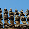 Intricate teak carvings on exterior of Shwe Nandaw Kyaung which were originally covered in gold.