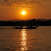 Sunset on the Irrawaddy river, Mandalay, Burma.