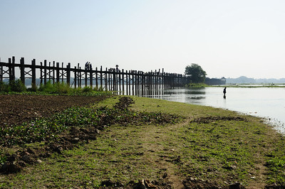 U Bein's Bridge.  Built of teak more than 200 years ago.