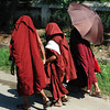 Monks near Mandalay Palace