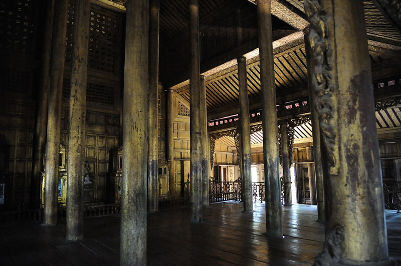 Interior of Shwe Nandaw Kyaung - The Golden Palace