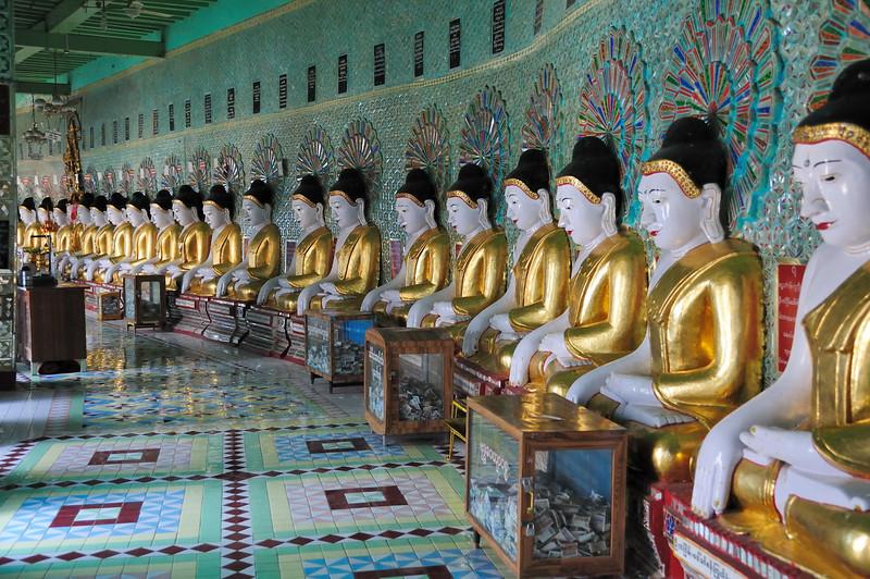 Inside U Min Thonze Pagoda