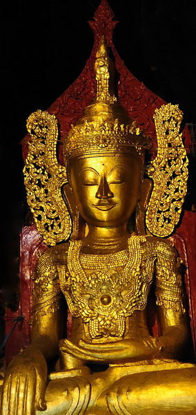 Gilded Buddha in Pindaya cave