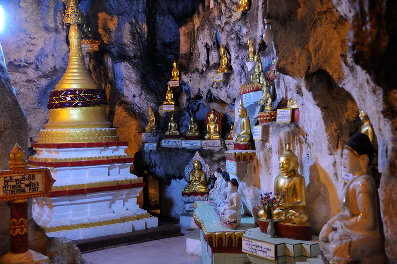 Buddha images in the cave