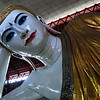 Chauk Htat Gyi Reclining Buddha Image.  First completed more than 100 years ago.