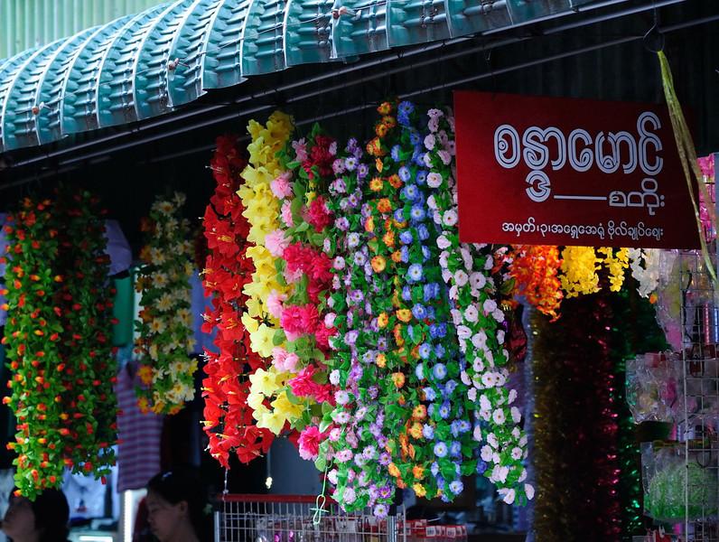 In the Bogyoke Aung San Market, Rangoon