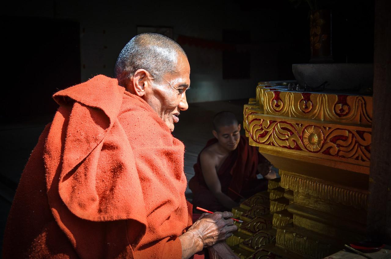 Buddhist monk, Nyaung Shwe, Burma (Myanmar)