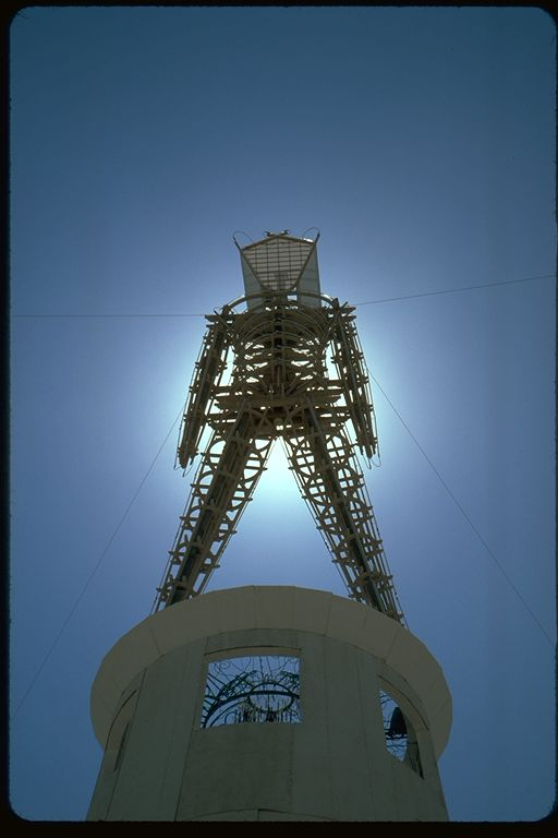 Burning man and sun