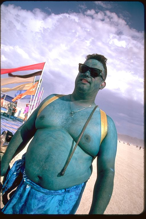 Large blue human