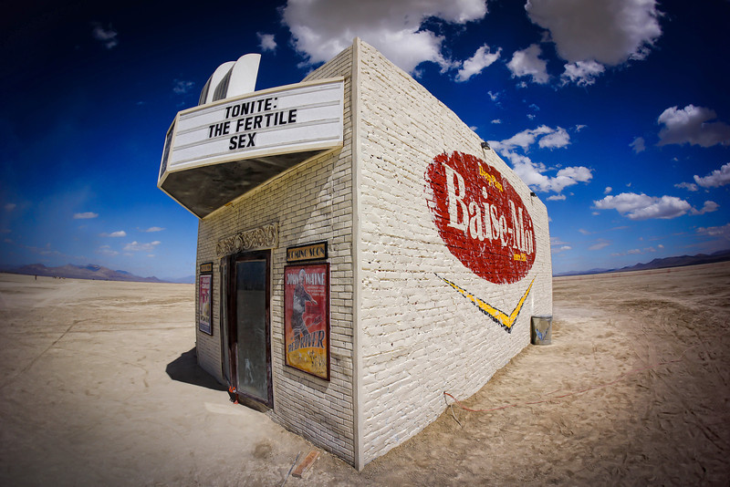 The Movie Theater in Deep Playa