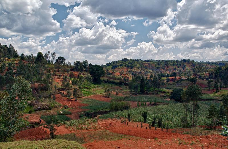 """Sicht auf die """"Berge"""" nahe Ngozi. Auf ca. 1800 m.ü.M."""