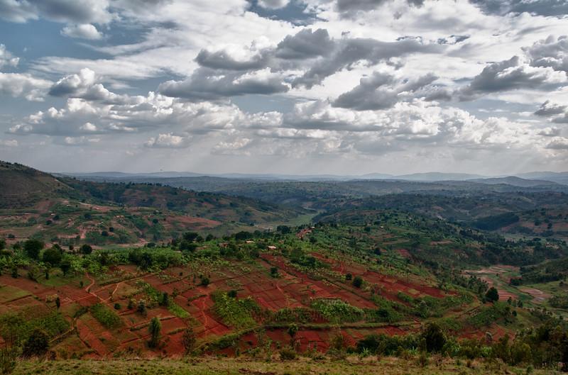 Sicht aufs Landesinnere zwischen Ngozi und Bujumbura