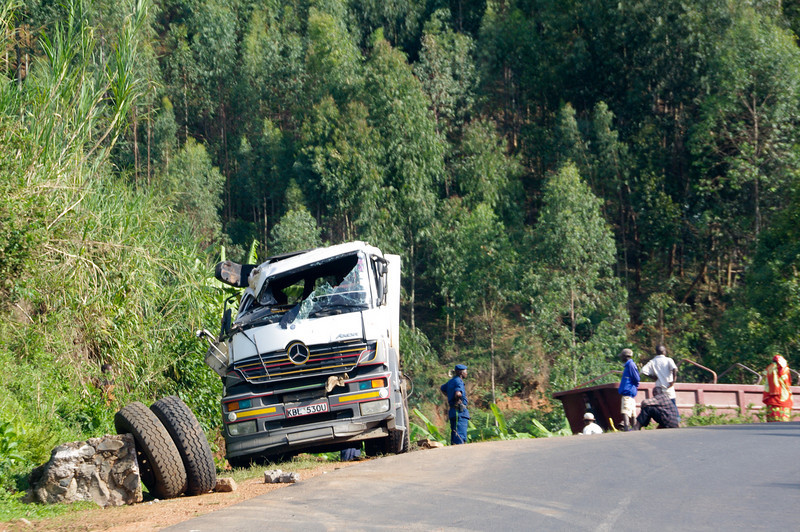 Unfall auf Überlandstrasse