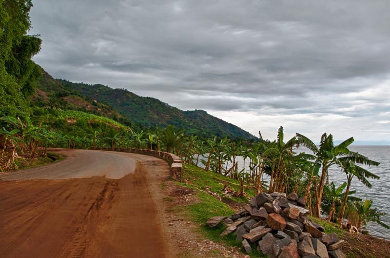 Strassenabschnitt zwischen Rumonge und Bujumbura