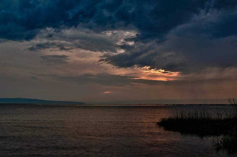 Sonnenuntergang über dem Tanganjikasee