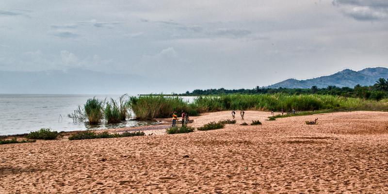 Strand am Tanganjikasee kurz vor Rumonge