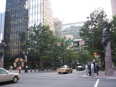 The Corner of Tryon St. And Trade St.