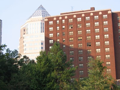 Sunlit facade on E. 7th St.