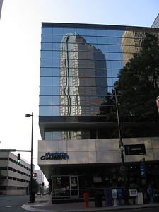 Wachovia Center reflected in the Charlotte Chamber of Commerce