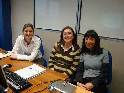 My colleagues in Italy, Penny, Manuela and Isabella.